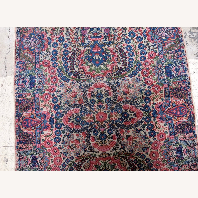 Handmade Antique Persian Kerman Rug - image-4
