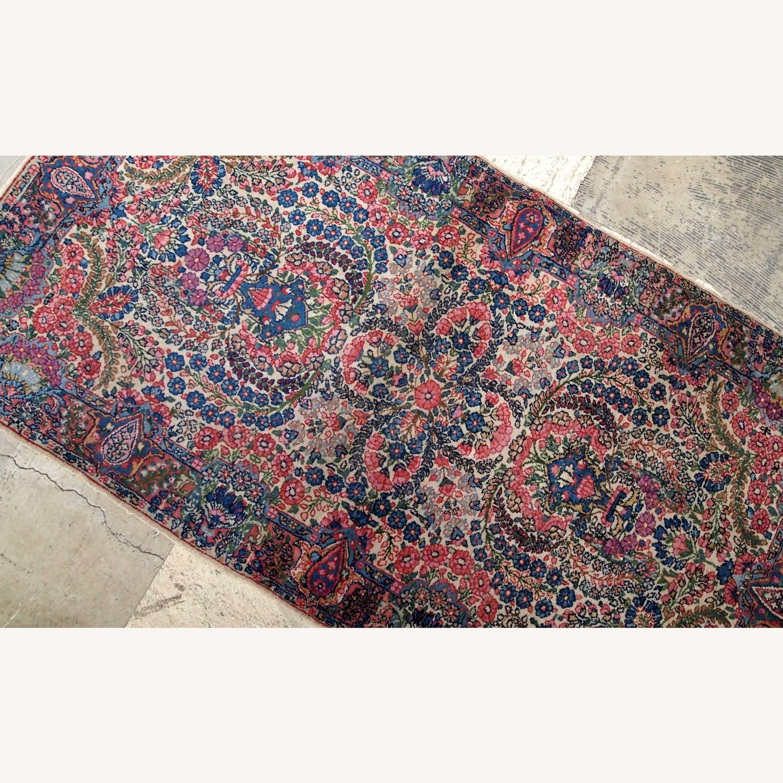 Handmade Antique Persian Kerman Rug - image-3