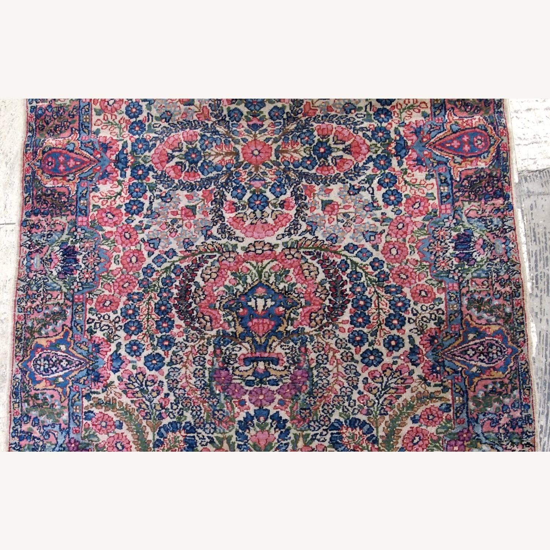 Handmade Antique Persian Kerman Rug - image-5