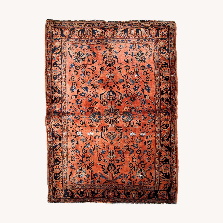 Handmade Antique Persian Sarouk Rug - image-0