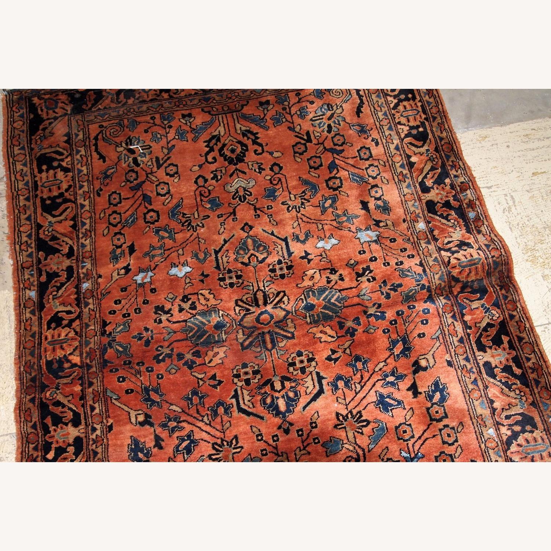 Handmade Antique Persian Sarouk Rug - image-5