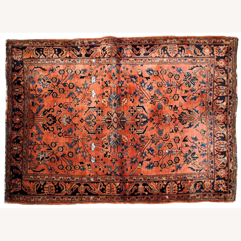 Handmade Antique Persian Sarouk Rug - image-9