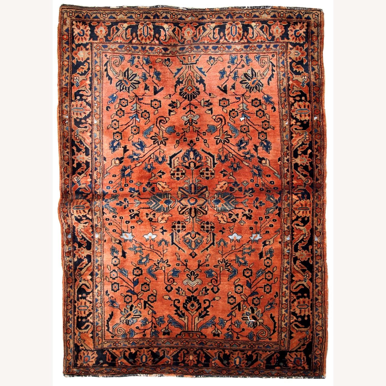 Handmade Antique Persian Sarouk Rug - image-1