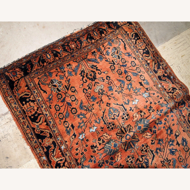 Handmade Antique Persian Sarouk Rug - image-8