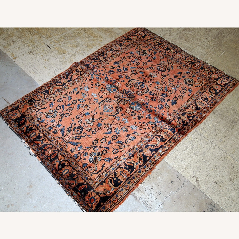 Handmade Antique Persian Sarouk Rug - image-7