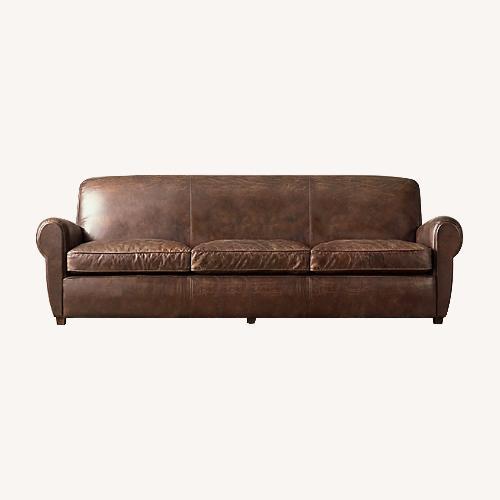 Used Restoration Hardware 1920S Parisian Leather Sofa for sale on AptDeco