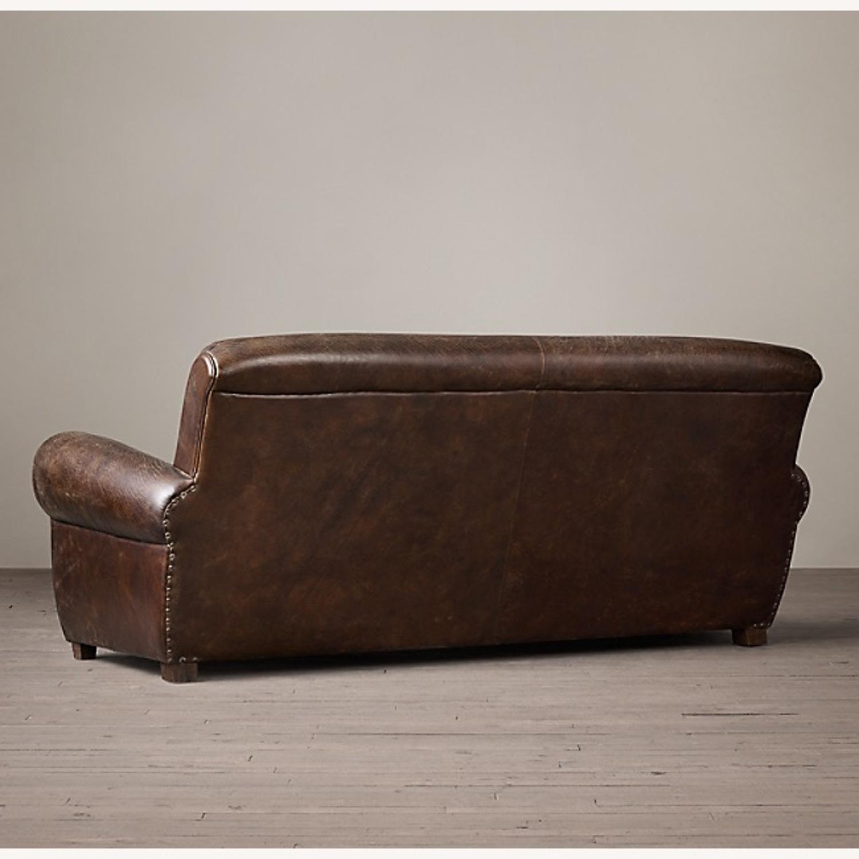 Restoration Hardware 1920S Parisian Leather Sofa - image-3