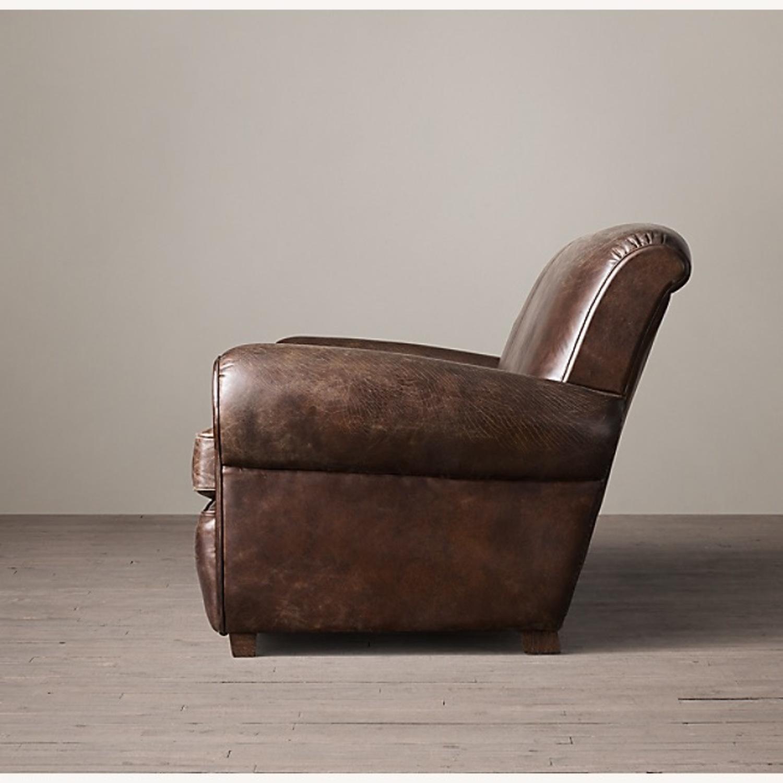 Restoration Hardware 1920S Parisian Leather Sofa - image-2