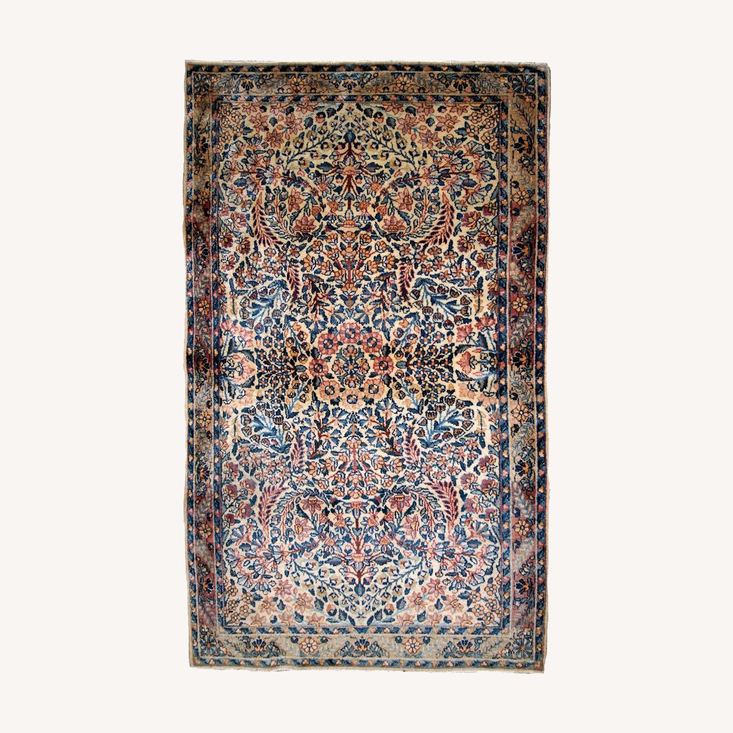 Handmade Antique Persian Kerman Rug - image-0