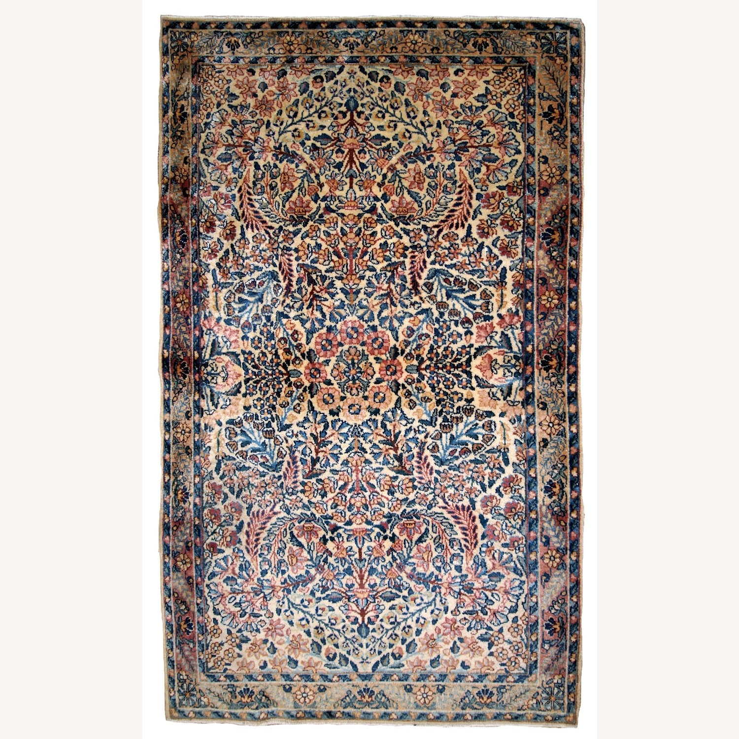 Handmade Antique Persian Kerman Rug - image-1
