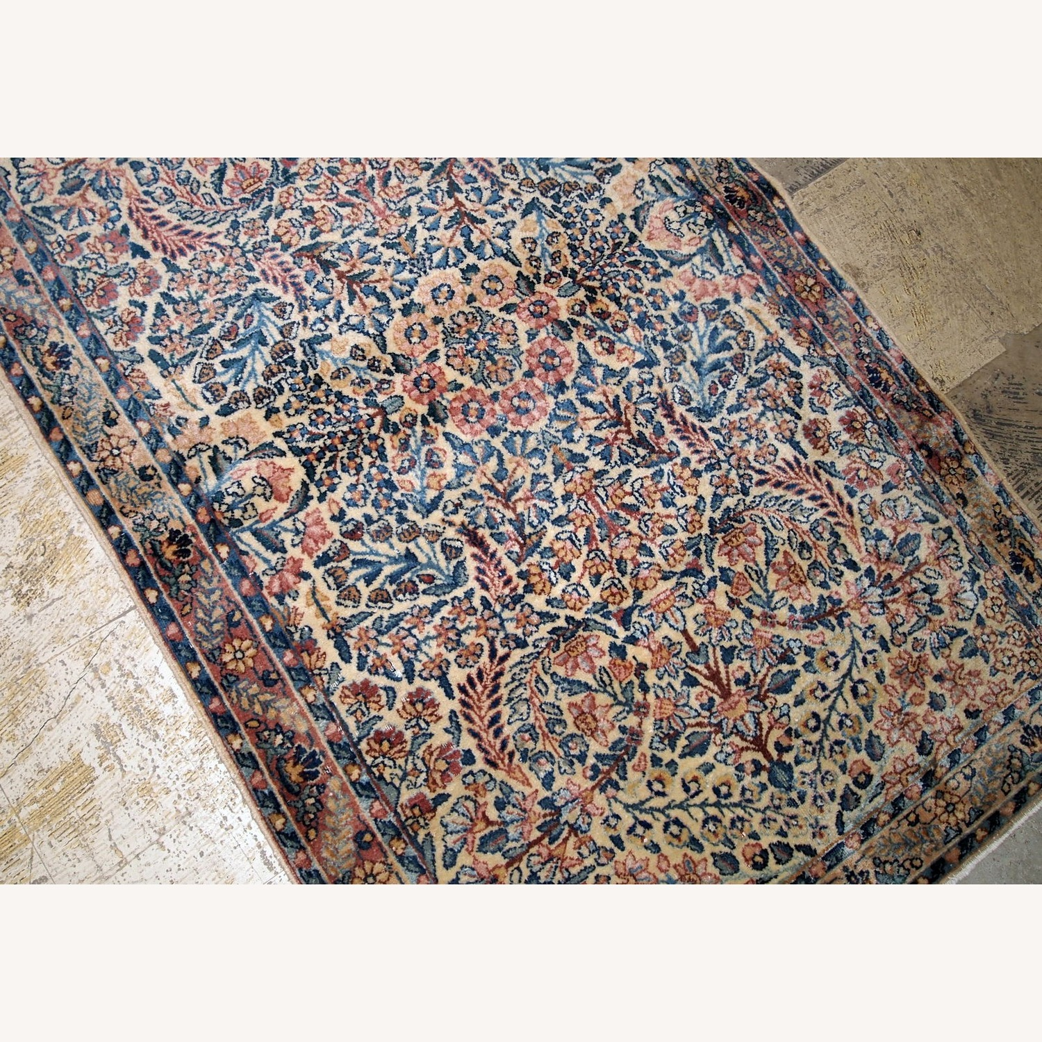 Handmade Antique Persian Kerman Rug - image-6