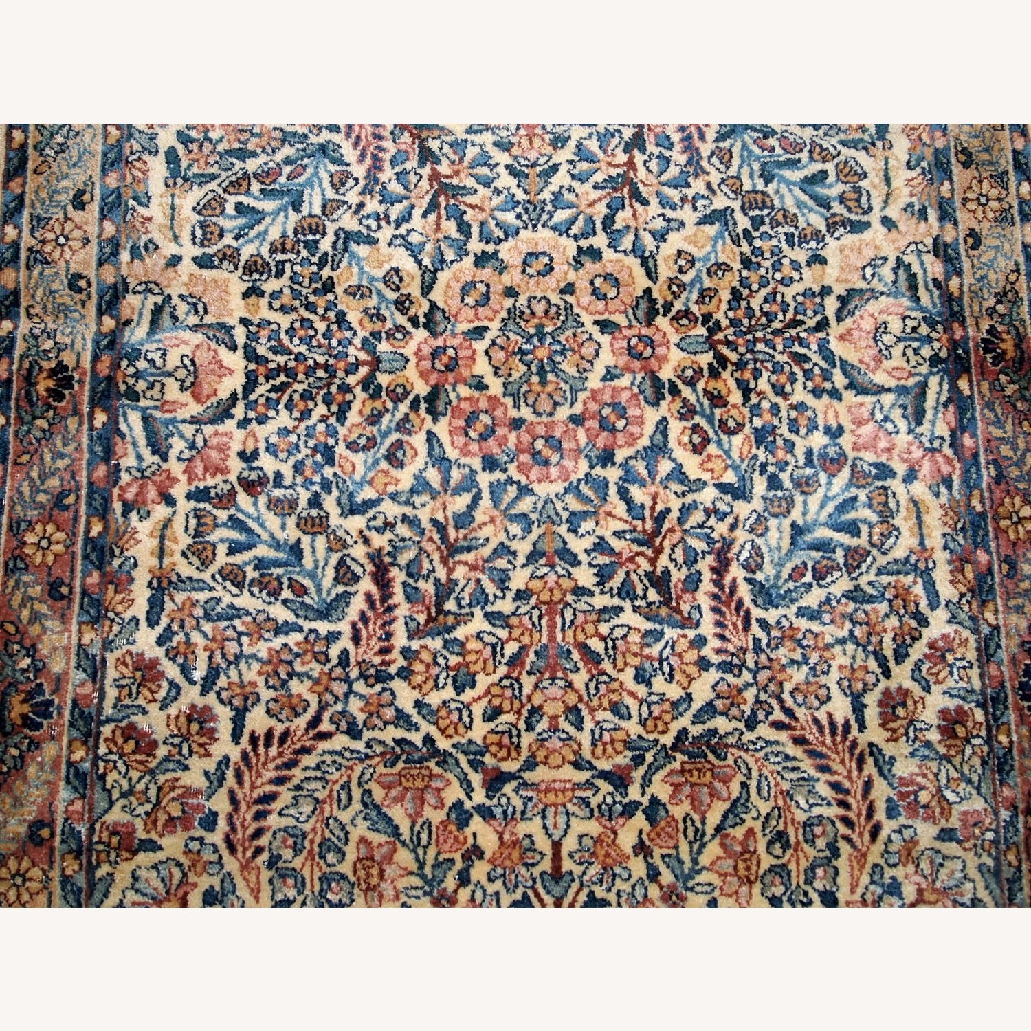 Handmade Antique Persian Kerman Rug - image-3