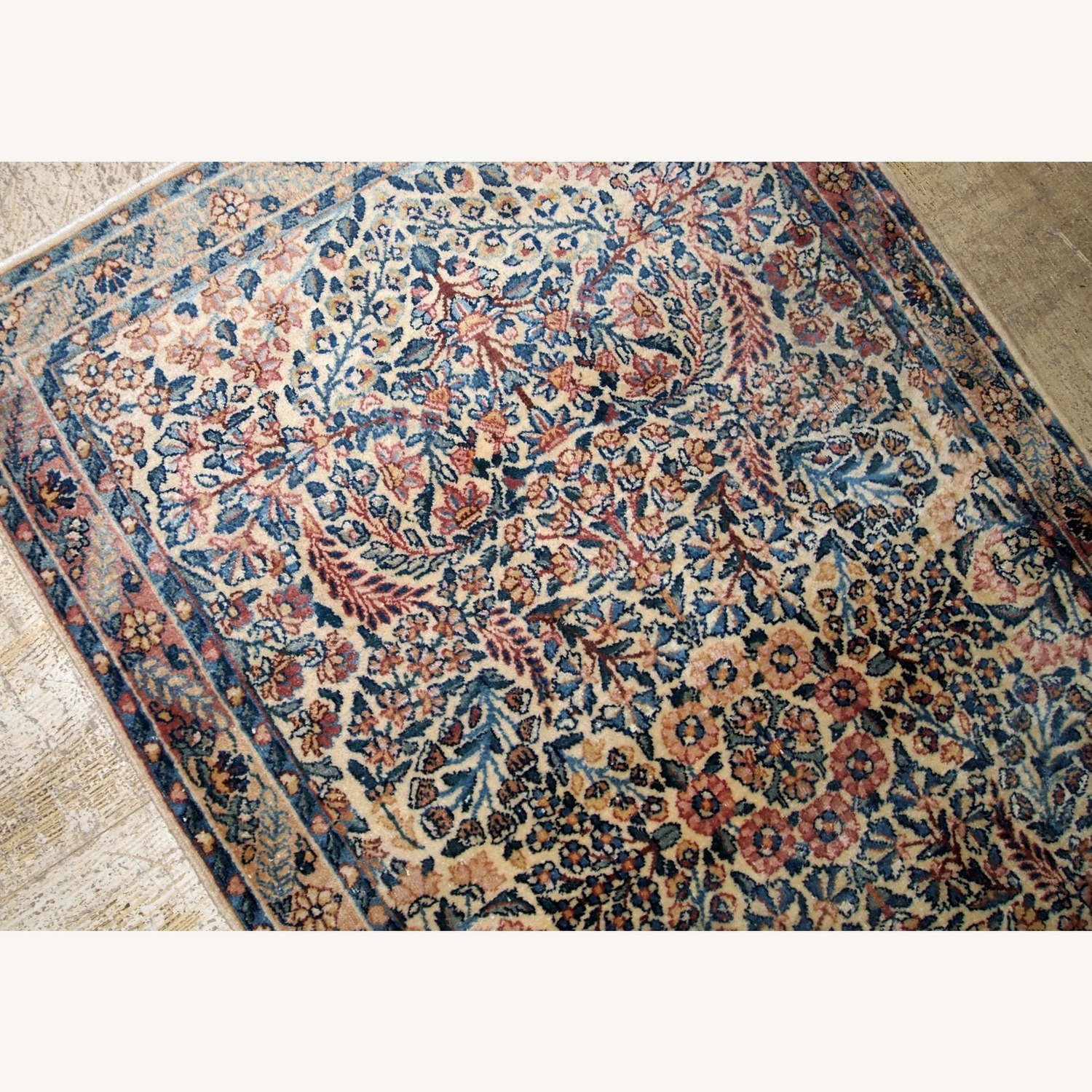 Handmade Antique Persian Kerman Rug - image-7