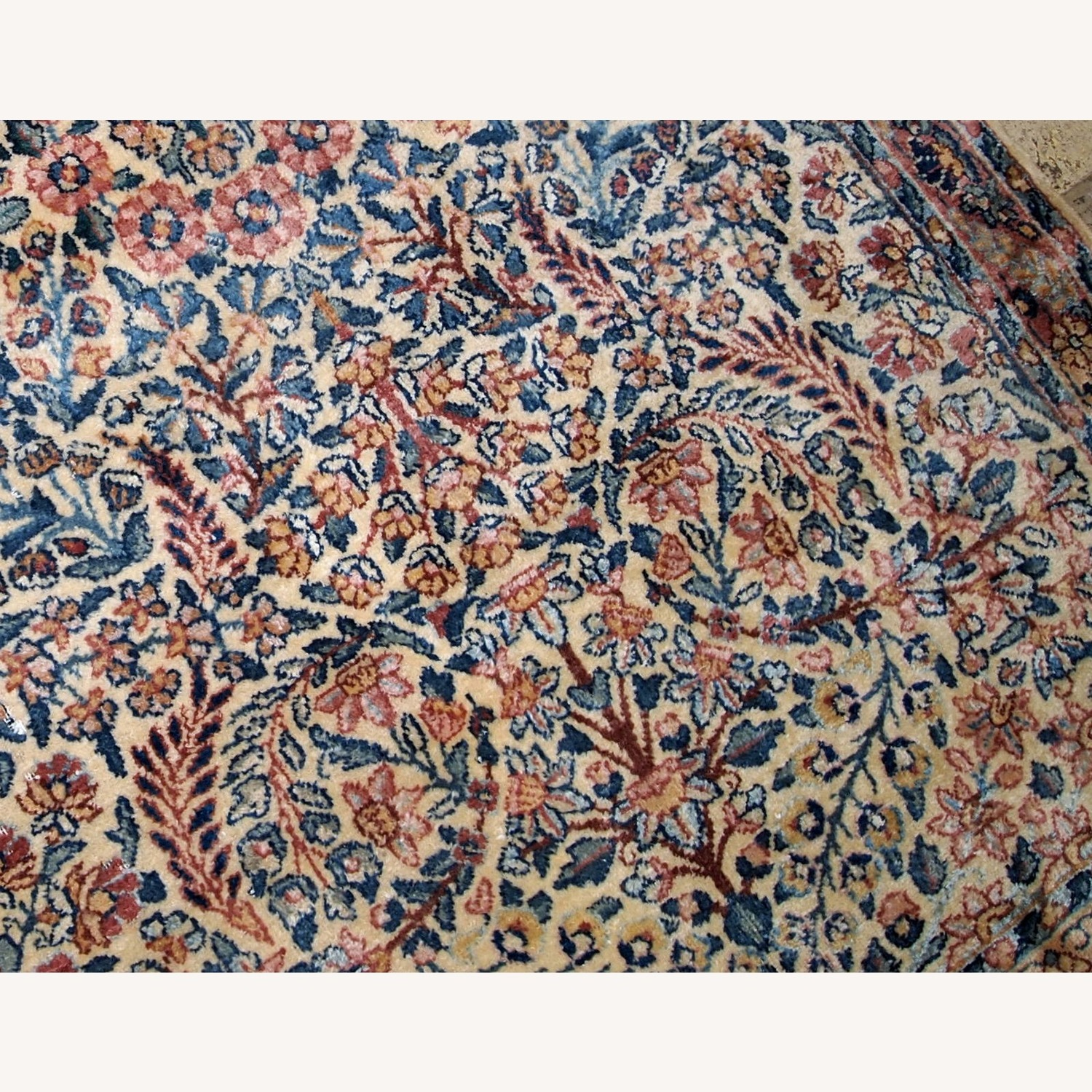 Handmade Antique Persian Kerman Rug - image-2