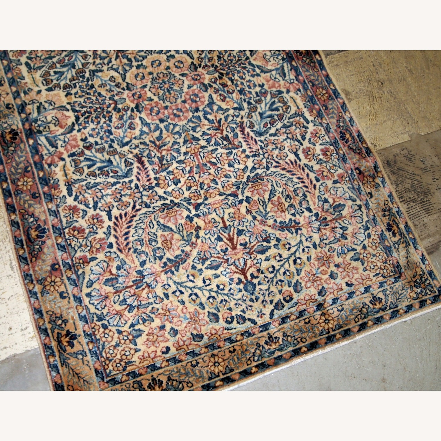 Handmade Antique Persian Kerman Rug - image-5