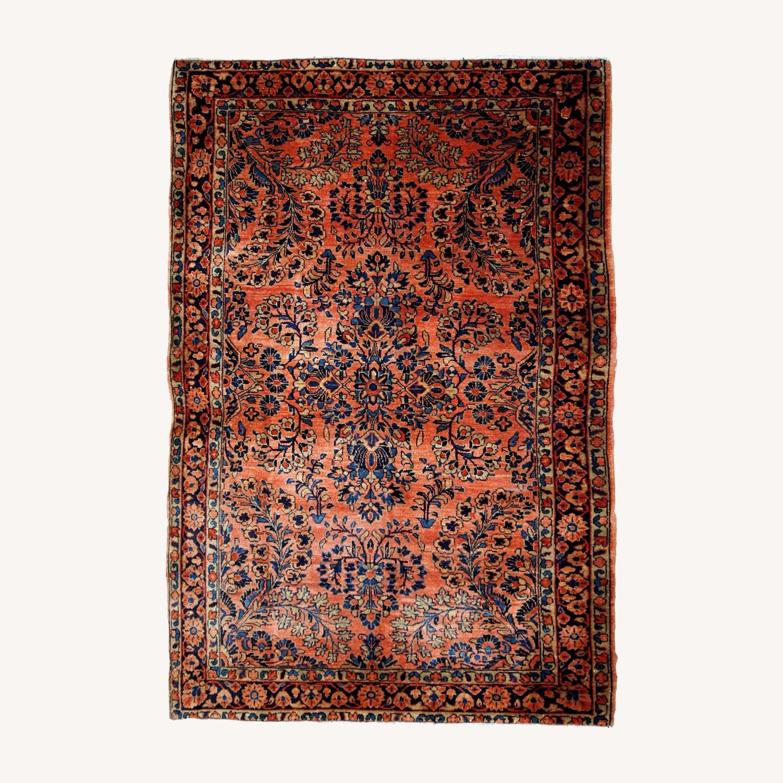 Handmade Antique Persian Sarouk Rug