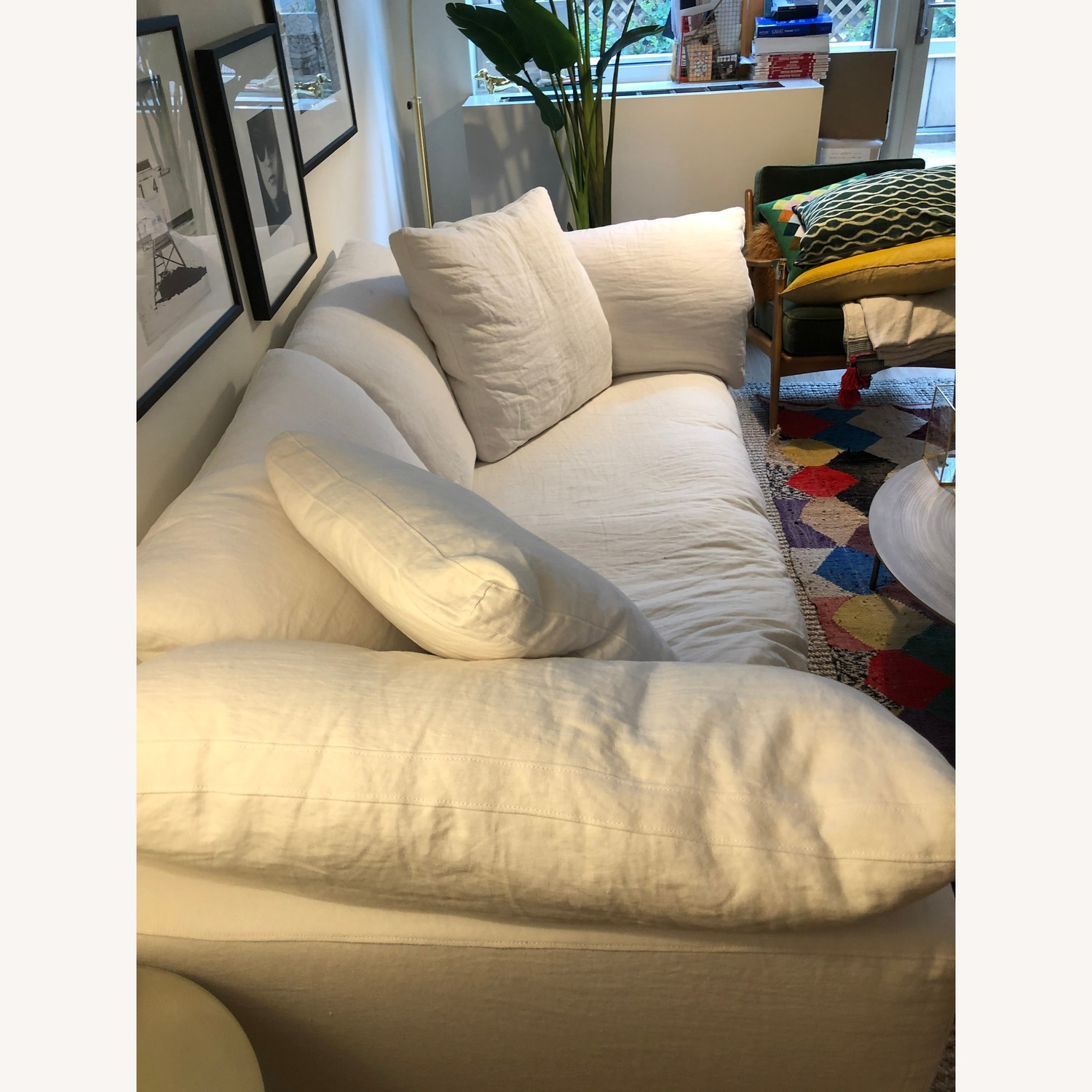 Restoration Hardware White Cloud Couch - image-4