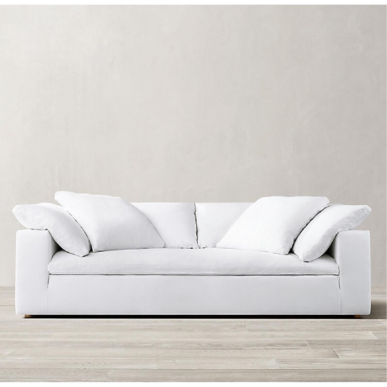 Restoration Hardware White Cloud Couch - image-7