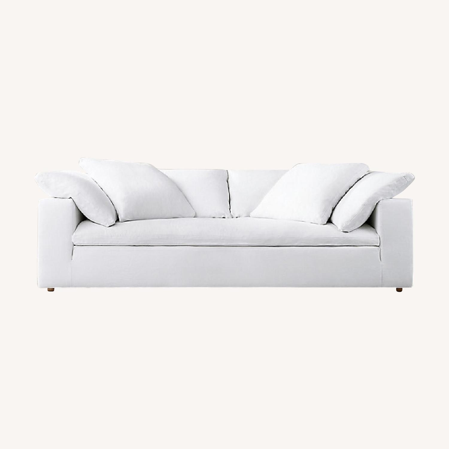 Restoration Hardware White Cloud Couch - image-0