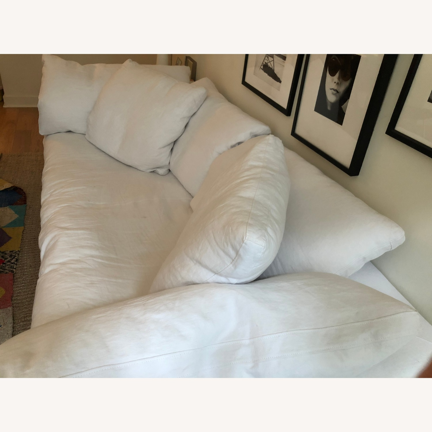 Restoration Hardware White Cloud Couch - image-2