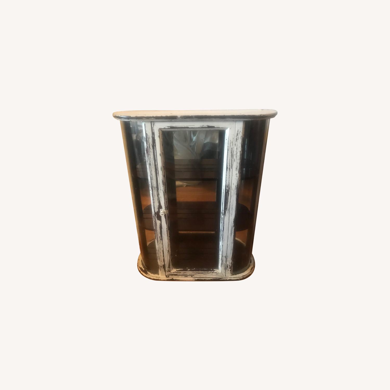Bombay Company Whitewashed Glass Curio Cabinet - image-0