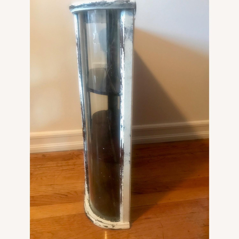Bombay Company Whitewashed Glass Curio Cabinet - image-5