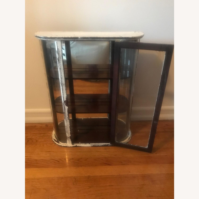 Bombay Company Whitewashed Glass Curio Cabinet - image-3