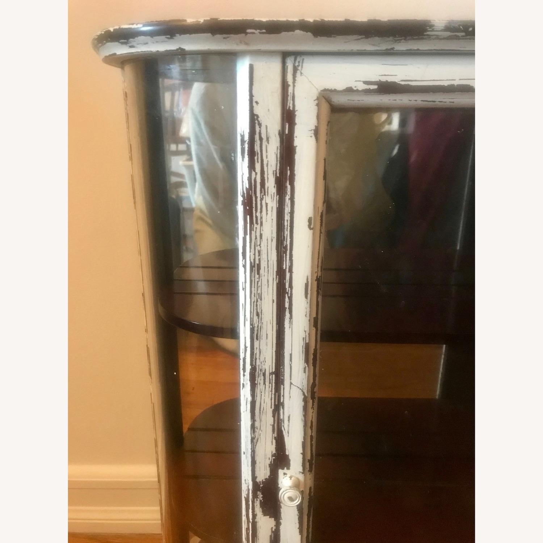 Bombay Company Whitewashed Glass Curio Cabinet - image-4