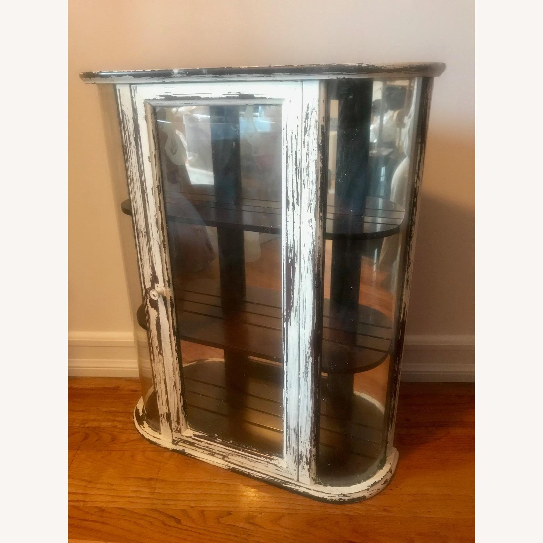 Bombay Company Whitewashed Glass Curio Cabinet - image-1