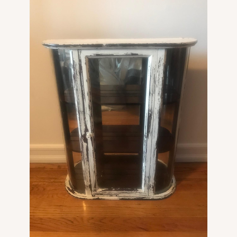 Bombay Company Whitewashed Glass Curio Cabinet - image-2