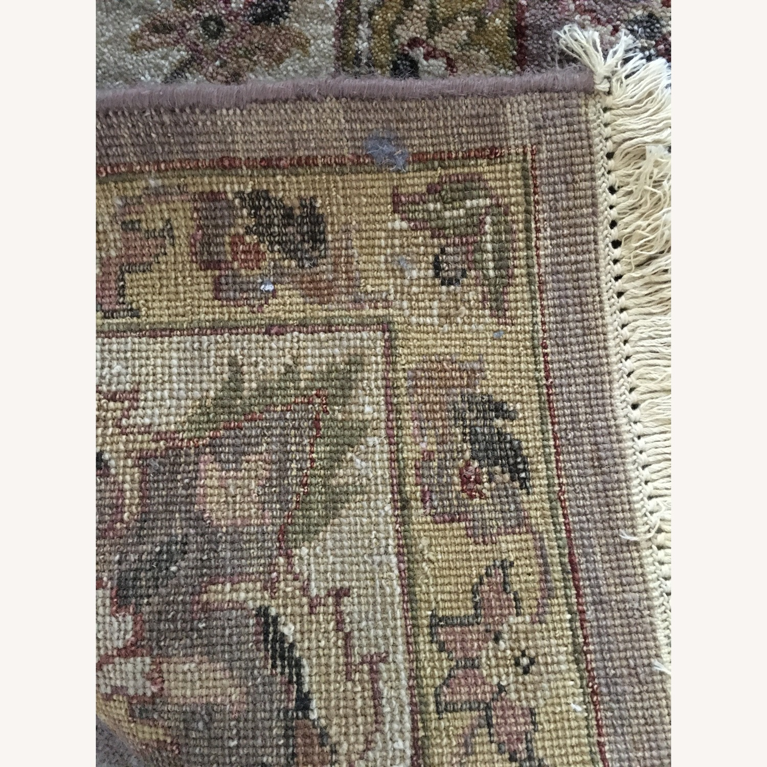 Hand-Knotted Wool Oushak Style Rug
