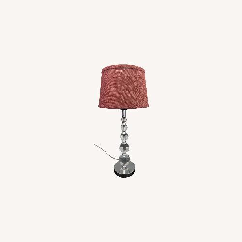 Used World Market Clear Table Lamp for sale on AptDeco