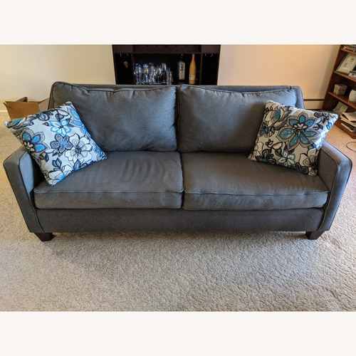 Used Raymour & Flanigan Grey Couch for sale on AptDeco