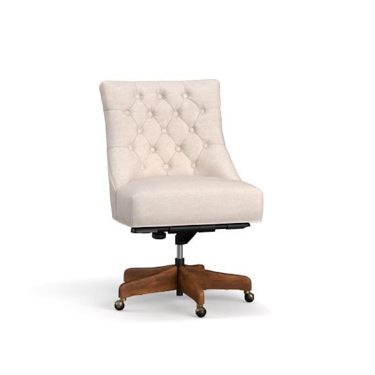 Pottery Barn Hayes Tufted Swivel Desk Chair