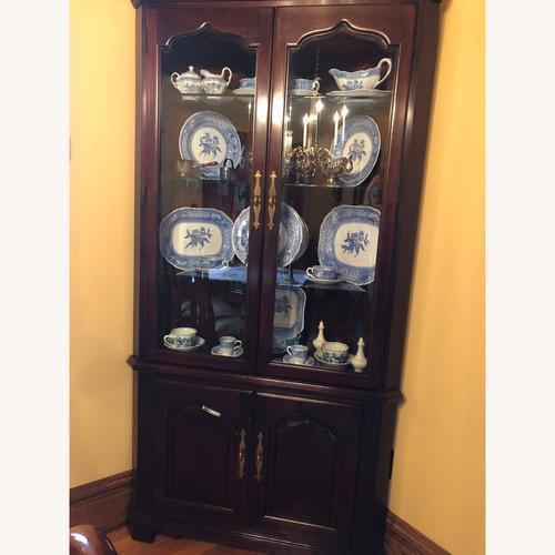 Used Thomasville Mahogany Corner Unit with Lighting for sale on AptDeco