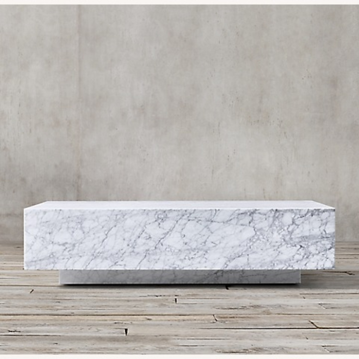 Restoration Hardware Marble Plinth Coffee Table - image-1