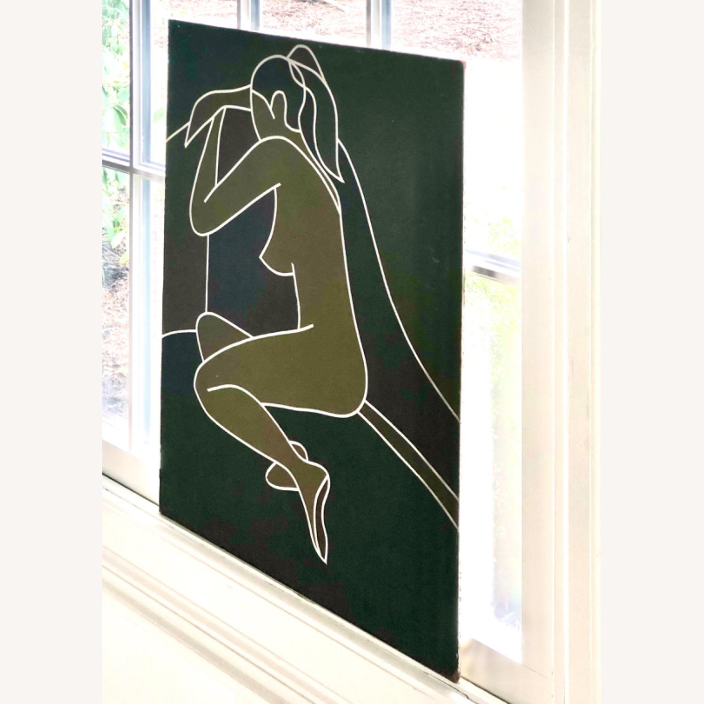 Vintage Modernist Female Nude Wall Art - image-7
