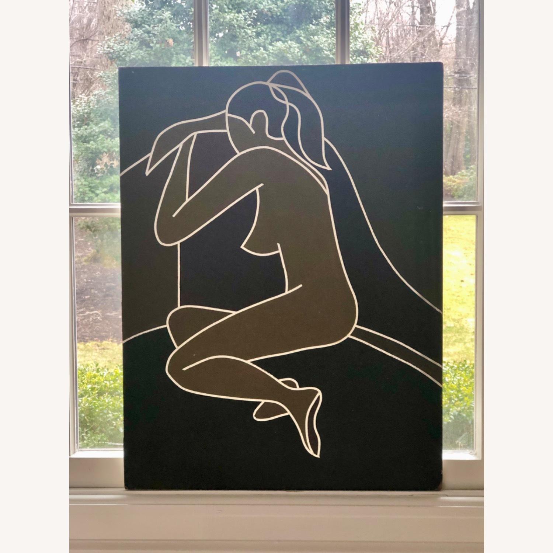 Vintage Modernist Female Nude Wall Art - image-8