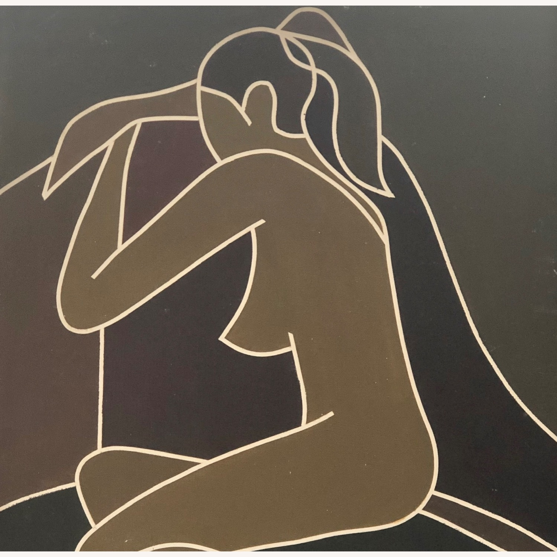 Vintage Modernist Female Nude Wall Art - image-6