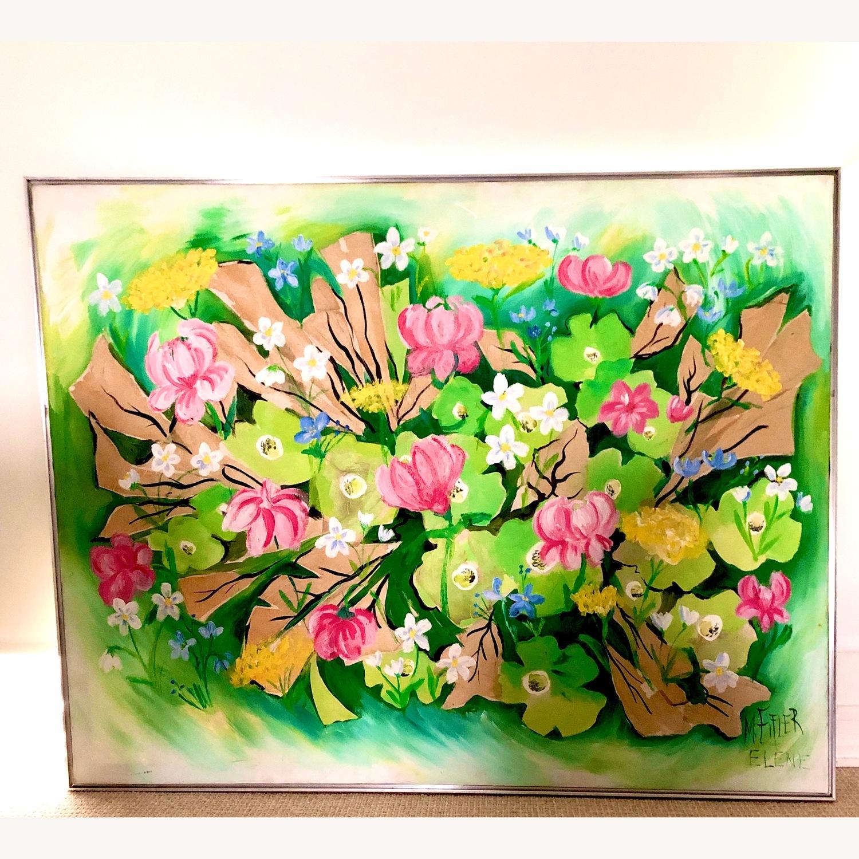 Original Vintage Spring Floral Still Life - image-5