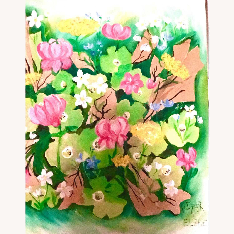 Original Vintage Spring Floral Still Life - image-8