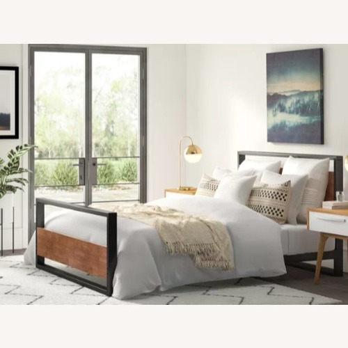 Used Wayfair Union Rustic Queen Bedframe for sale on AptDeco