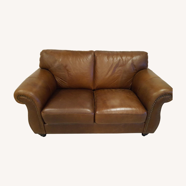 Leather 2-Seat Sofa