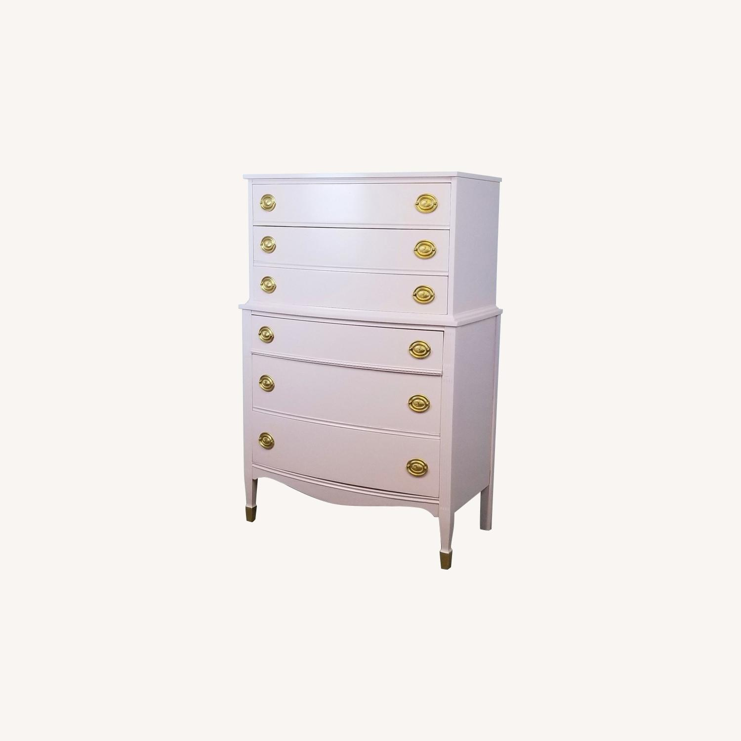 Blush Pink Federal Chest of Drawers