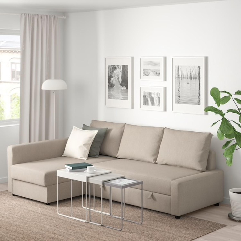 Ikea Hyllie Beige Sleeper Sectional Sofa