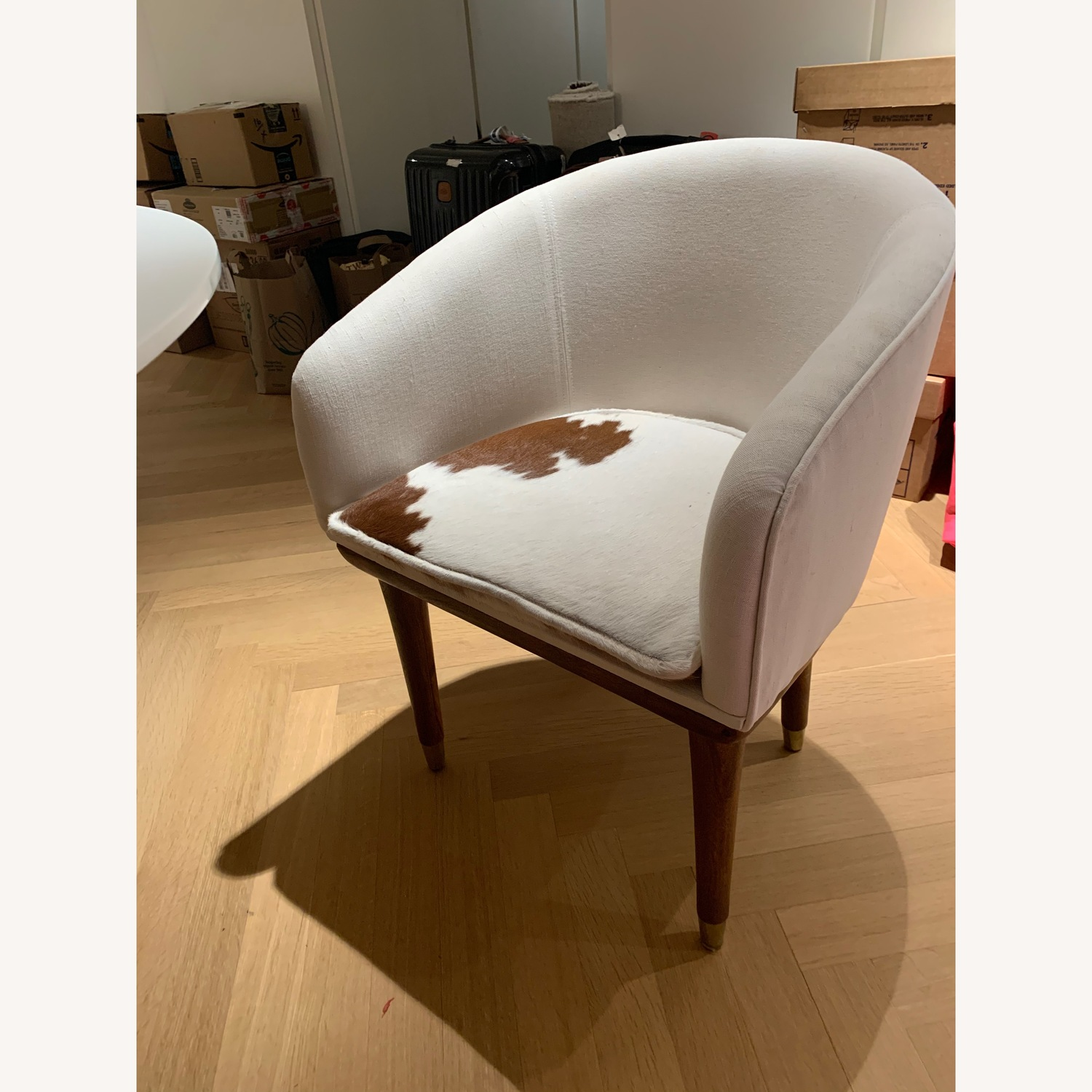CB2 Viceroy Cowhide Chairs Set of 4