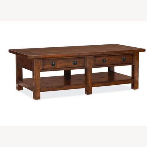 Used Pottery Barn Benchwright Coffee Table for sale on AptDeco
