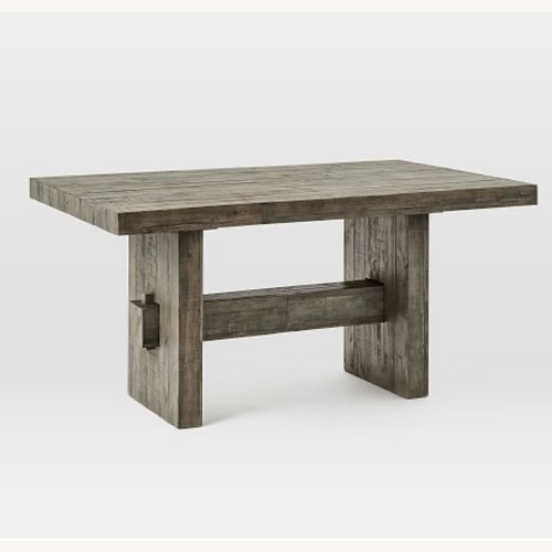Used West Elm Emmerson Dining Table-Stone Grey for sale on AptDeco