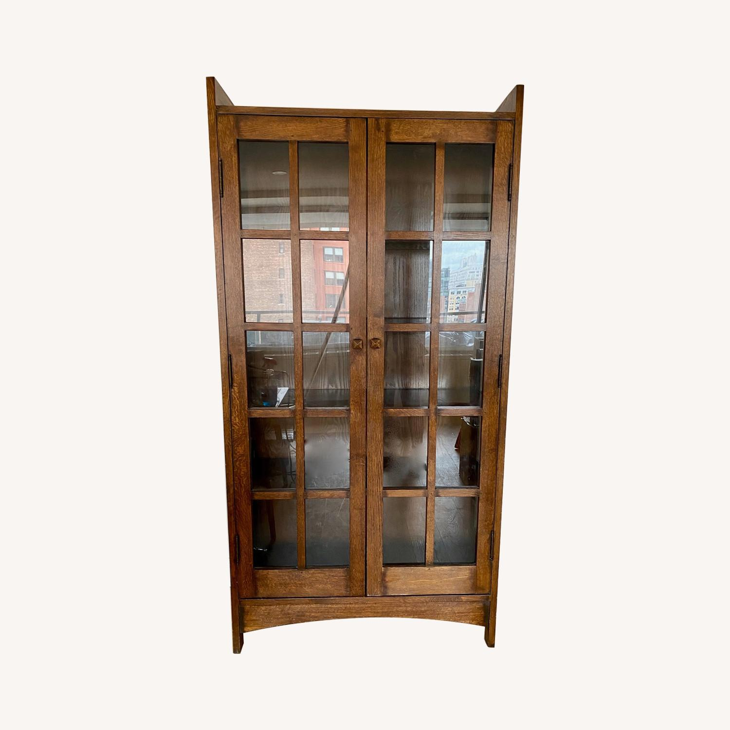 Asian Style Solid Wood China Closet Bookcase