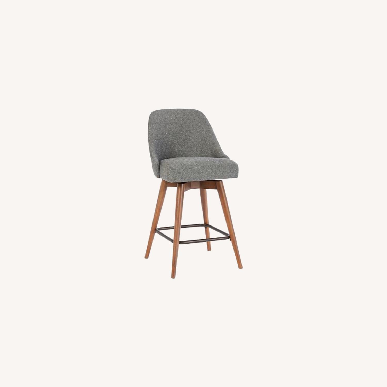 West Elm Mid-Century Upholstered Swivel Counter Stool